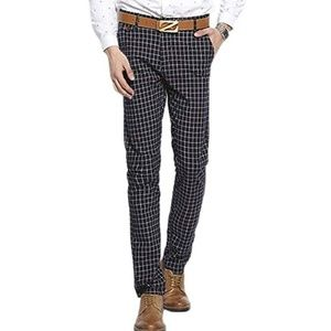 192479cf35a British style checked plaid mens trousers